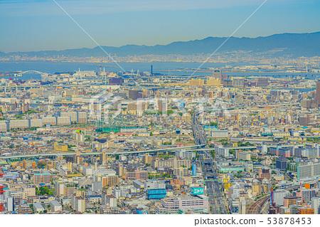 오사카 도시 경관 다이쇼 구 고노 하나 구 방면 53878453