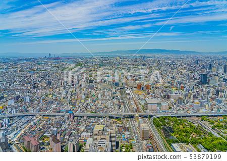 오사카 도시 경관 아베노바시 터미널 빌딩에서 서쪽 방향 53879199
