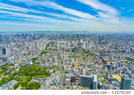 오사카 도시 경관 아베노바시 터미널 빌딩에서 북쪽 방향 53879200