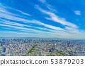 오사카 도시 경관 아베노바시 터미널 빌딩에서 북쪽 방향 53879203
