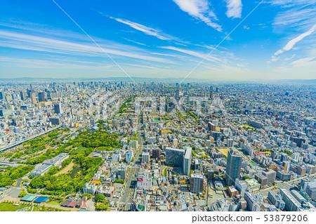 오사카 도시 경관 아베노바시 터미널 빌딩에서 북쪽 방향 53879206