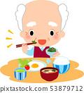 吃早餐的老人 53879712