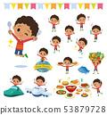 perm hair boy_food festival 53879728