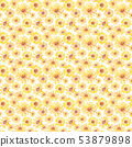 Sunflower watercolor background 53879898