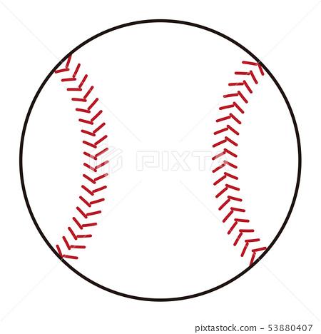 Baseball ball Baseball ball illustration 53880407