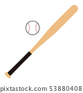 Baseball bat and ball Baseball bat Baseball ball illustration 53880408