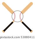 Baseball bat and ball Baseball bat Baseball ball illustration 53880411