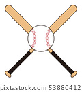 Baseball bat and ball Baseball bat Baseball ball illustration 53880412