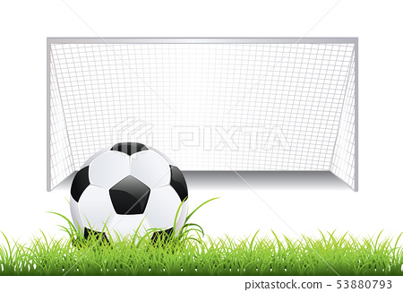 Soccer Goal with Ball 53880793