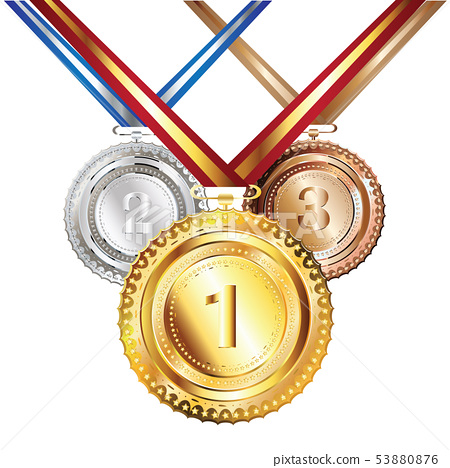 Golden, Silver and Bronze Medal 53880876