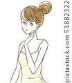 女人皮肤检查 53882322