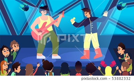 Next Generation Concert and Party Cartoon Vector. 53882332