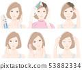 做护发的妇女的例证 53882334
