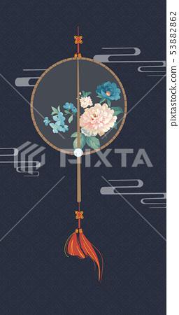 優雅的水彩花卉設計,中國設計 53882862