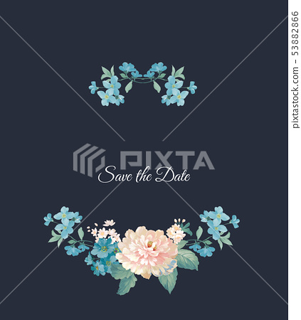 優雅的水彩花卉設計,中國設計 53882866