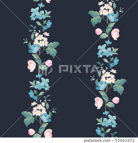 優雅的水彩花卉設計,中國設計 53882872