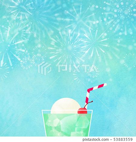 배경 - 여름 - 불꽃 놀이 - 크림 소다 - 일본 - 일본식 - 종이 - 일본식 디자인 53883559