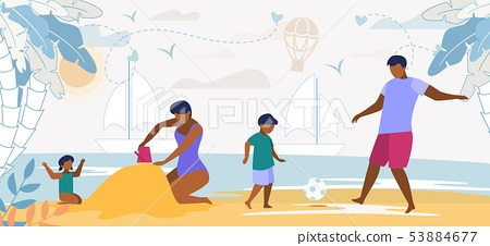 Happy Family Summer Vacation Leisure Time Seaside 53884677
