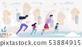 Happy Family Outdoors Sport Activity, Running 53884915