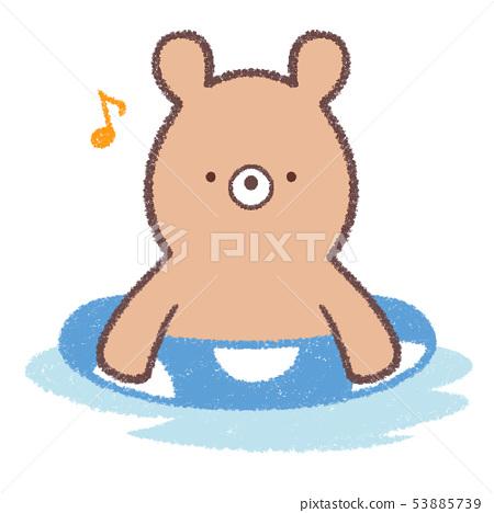 곰 튜브 물놀이 53885739