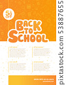 Back to school education template poster design 53887655