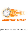 Stopwatch in flame - limited time offer banner, 53888502