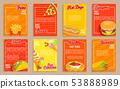 Big set of fast food shop flyers,banners. 53888989