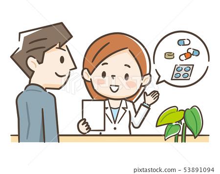 聽藥劑師解釋的男人 53891094
