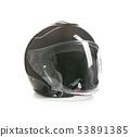 Open face motorcycle helmet. 53891385