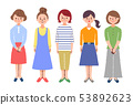 5女性全身顏色 53892623