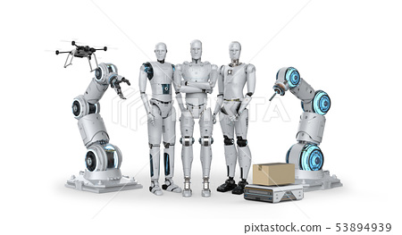 Group of automation robots 53894939
