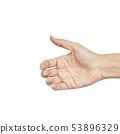Empty female woman hand holding 53896329