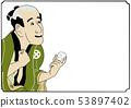 浮世繪風格的安排插圖歌舞伎風格的碼頭沒有喜悅的人物 53897402