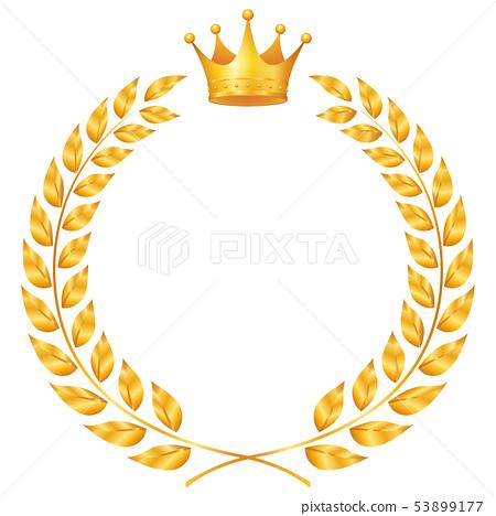 排名_月桂樹和皇冠框架 53899177