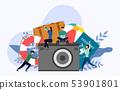 Retro camera with human concepts 53901801
