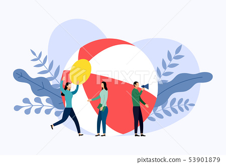 Beach ball with human concepts 53901879