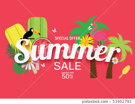 Abstract Summer Sale Background. Vector 53902792