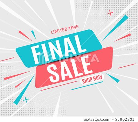 Final sale banner poster. Vector illustration 53902803