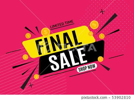 Final sale banner poster. Vector illustration 53902810