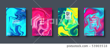 Colorful abstract geometric background. Liquid dynamic gradient waves. Fluid marble texture. Modern 53903518