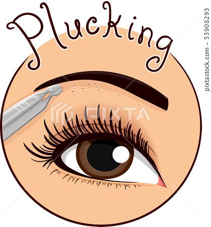 Eyebrow Plucking Icon Illustration 53908293