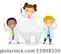 Stickman Kids Little Dentist Tooth Illustration 53908330