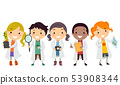 Stickman Kids Botanist Illustration 53908344