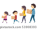 Stickman Family Carry Box Walk Move In 53908393