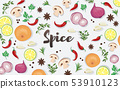 spice and vegetable foods background  53910123