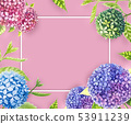Hydrangea painting with watercolor for background. 53911239