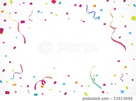 Colorful ribbon and confetti 53913698