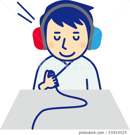 Medical checkup hearing man 53914525