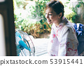 Yukata women and fans 53915441