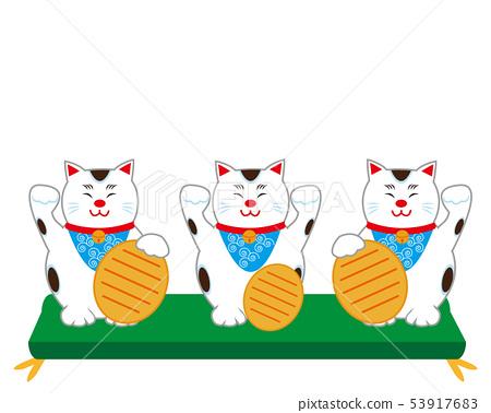 貓召喚貓墊橢圓形 53917683